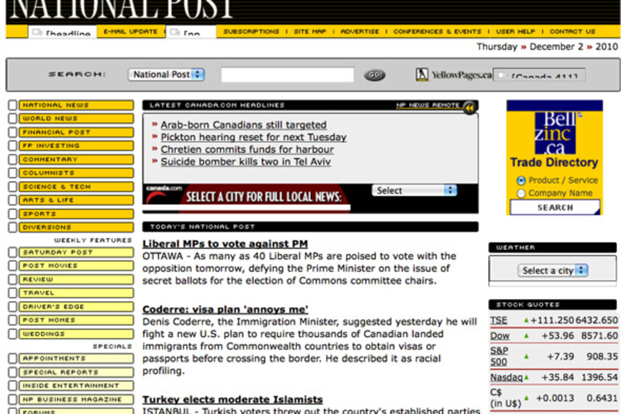 Old Toronto Web pages