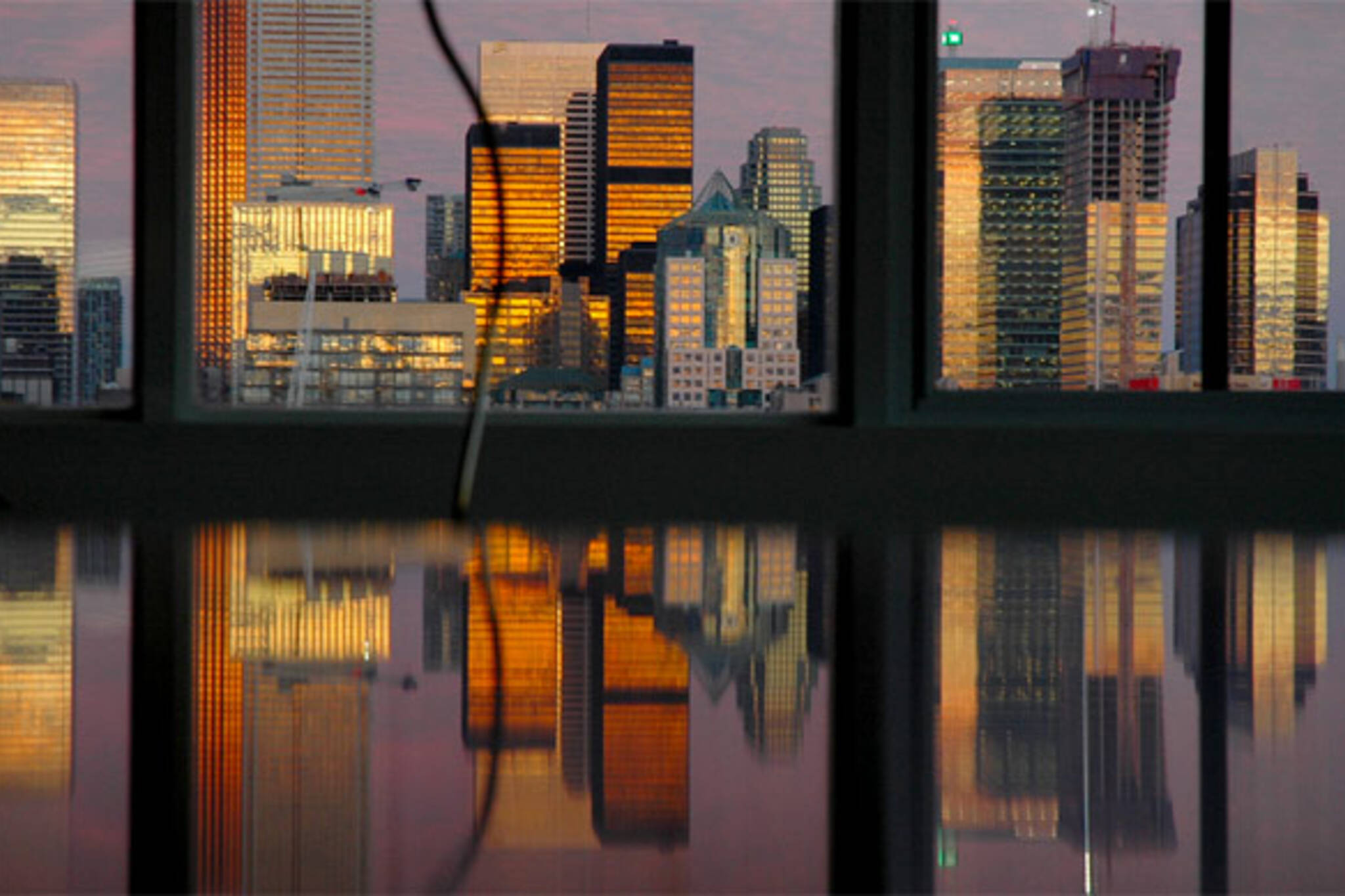 skyline reflection toronto