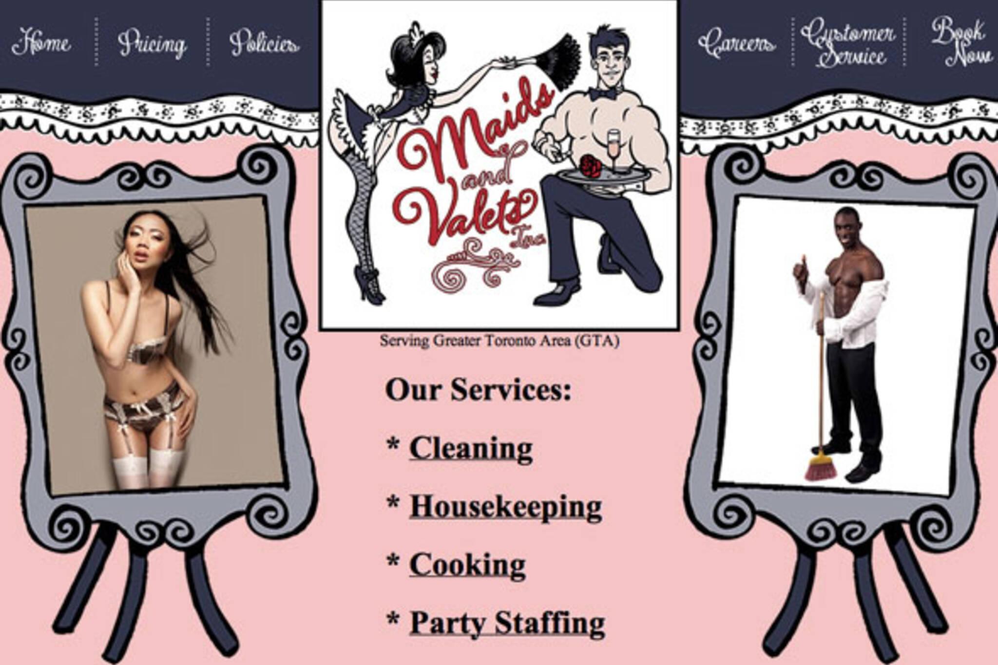 lingerie maids valets toronto