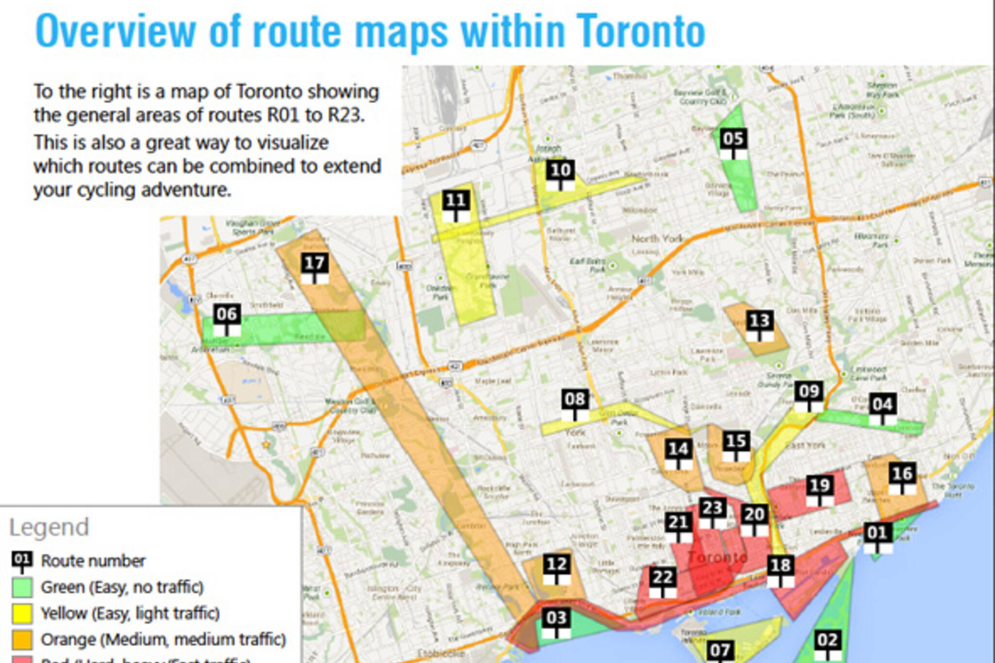 Cycling routes toronto
