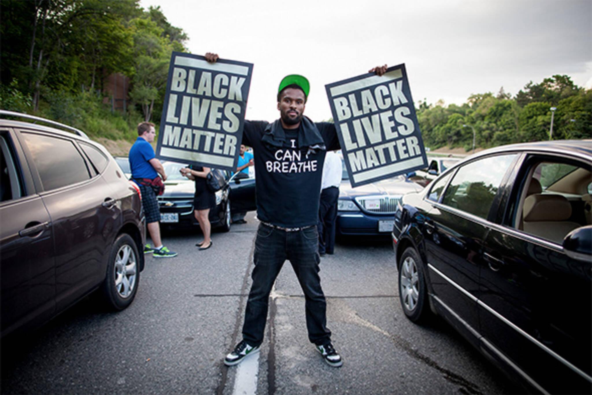 black lives matter protest toronto