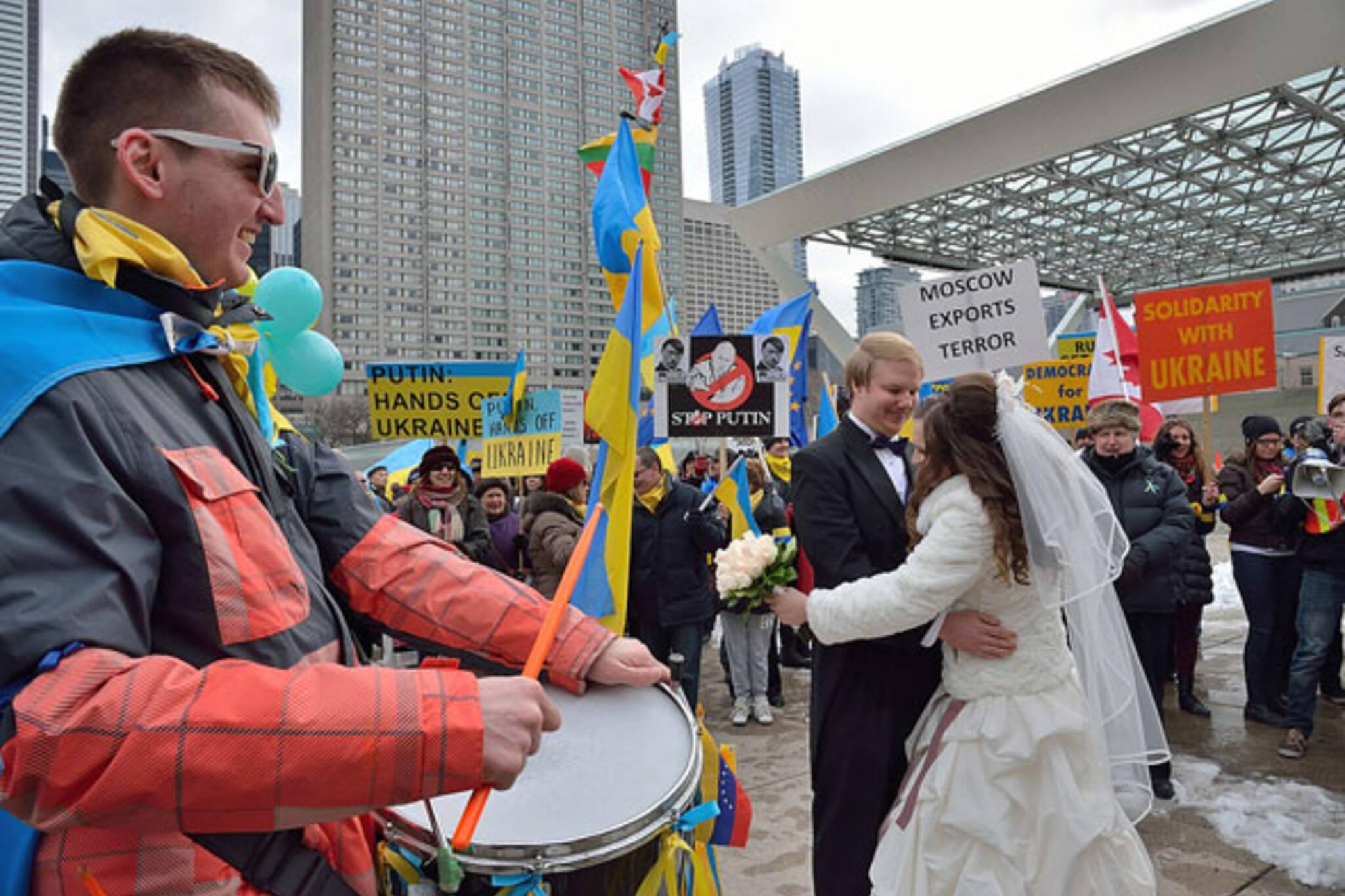 Ukrainians demonstration