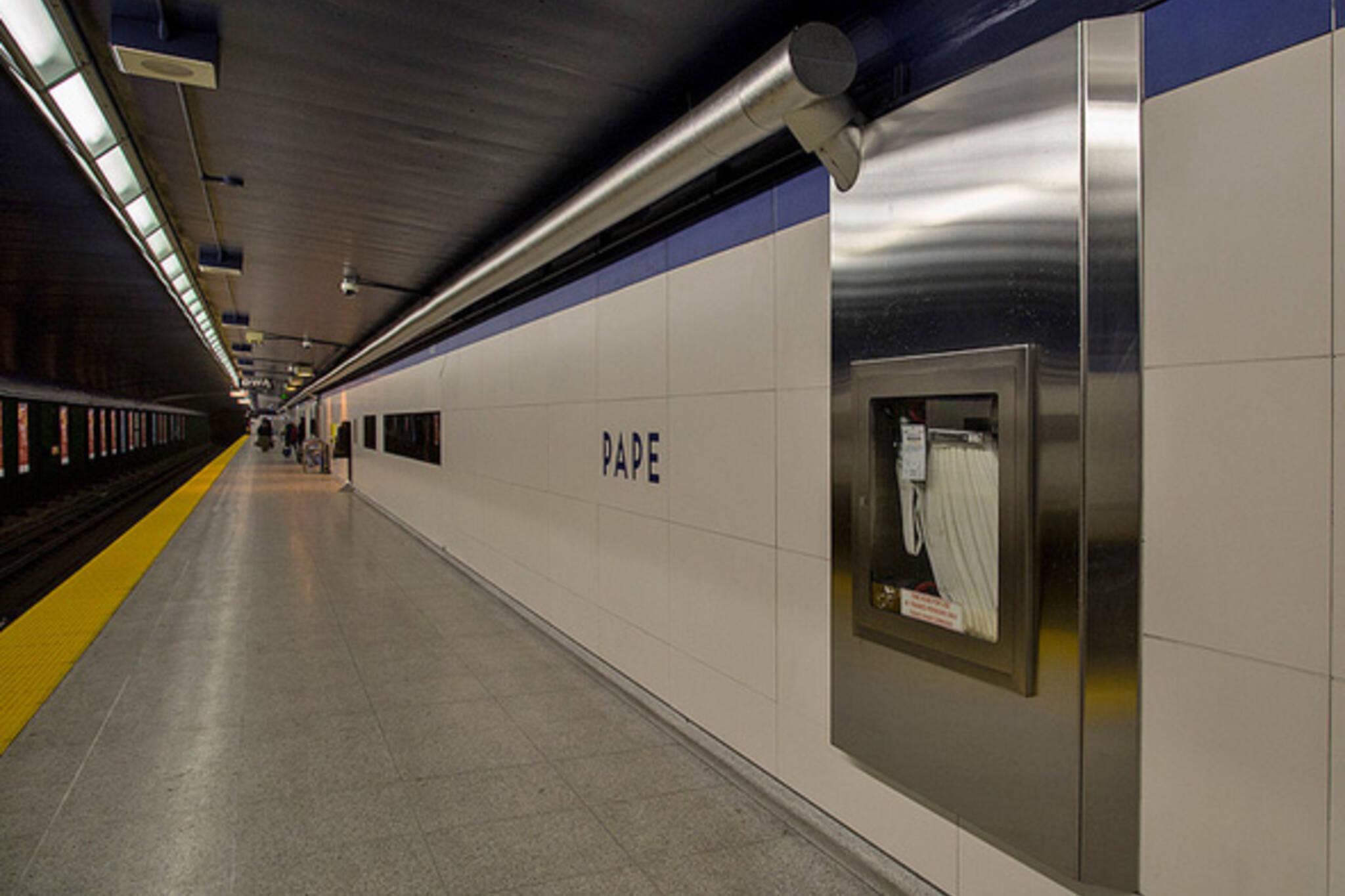 Pape Station Toronto