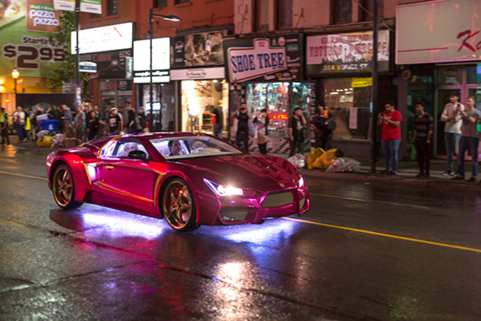 Infiniti G35 Vaydor >> The Joker cruises down Yonge St. for Suicide Squad