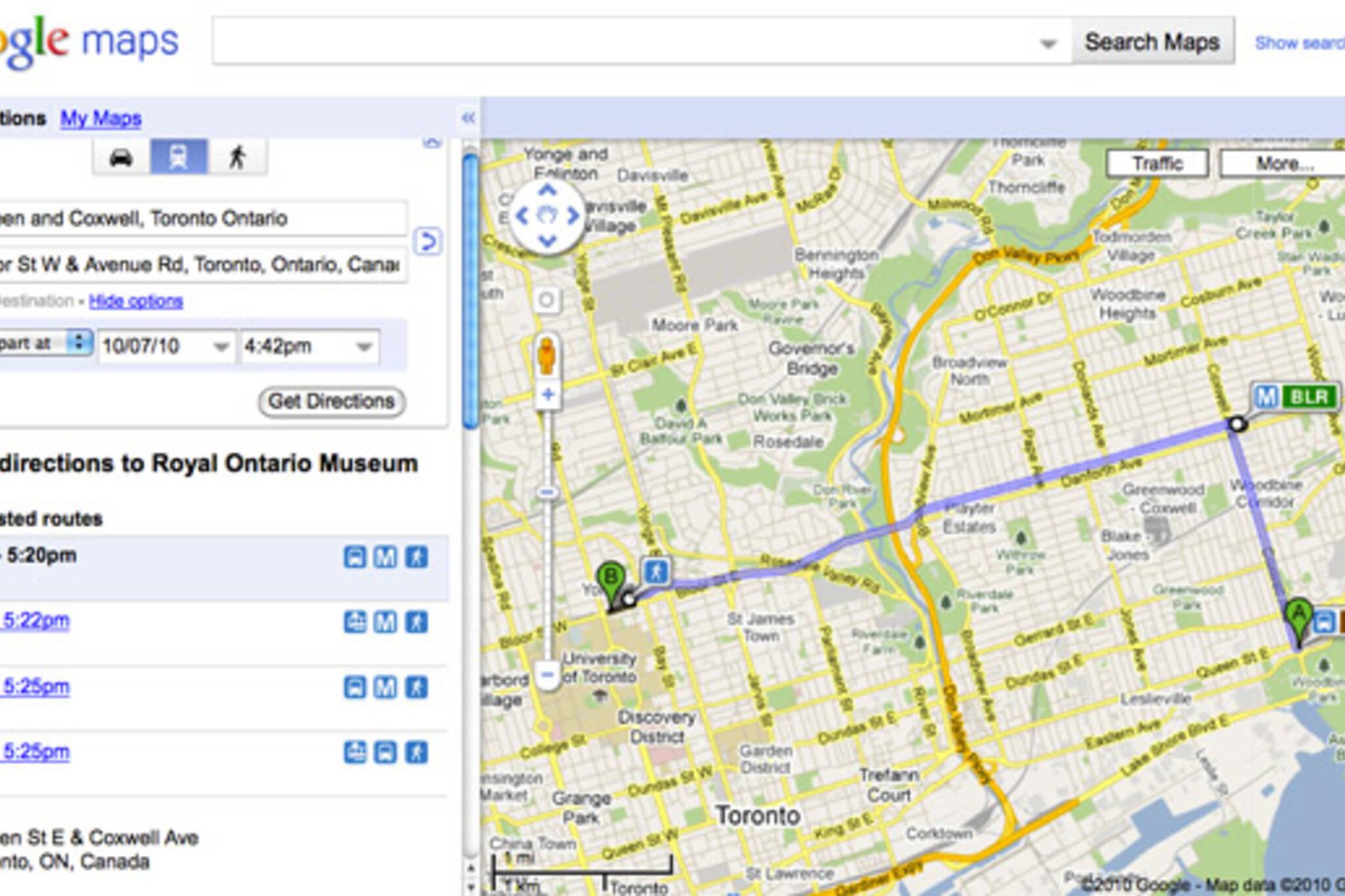 TTC Google Maps