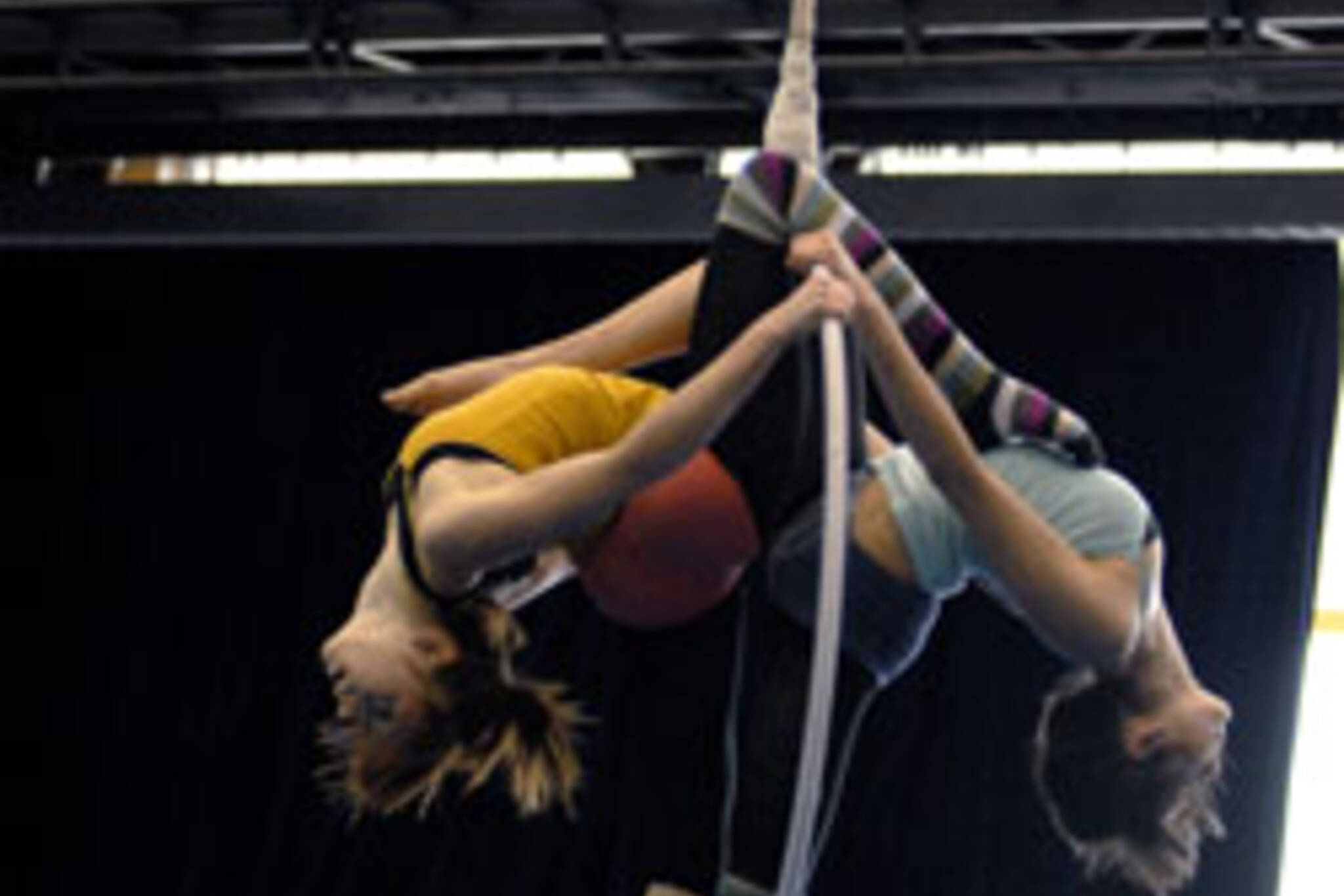 Students training at National Circus School