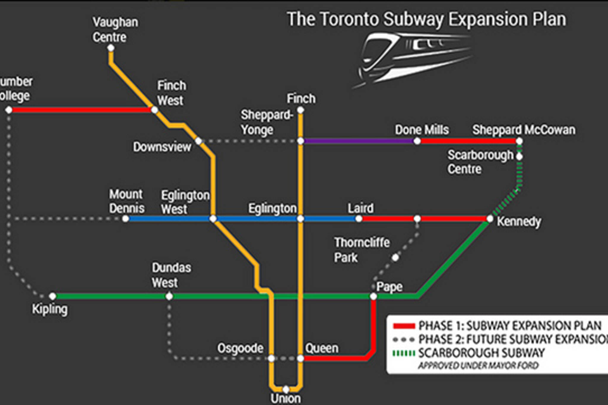 Doug Ford Transit map