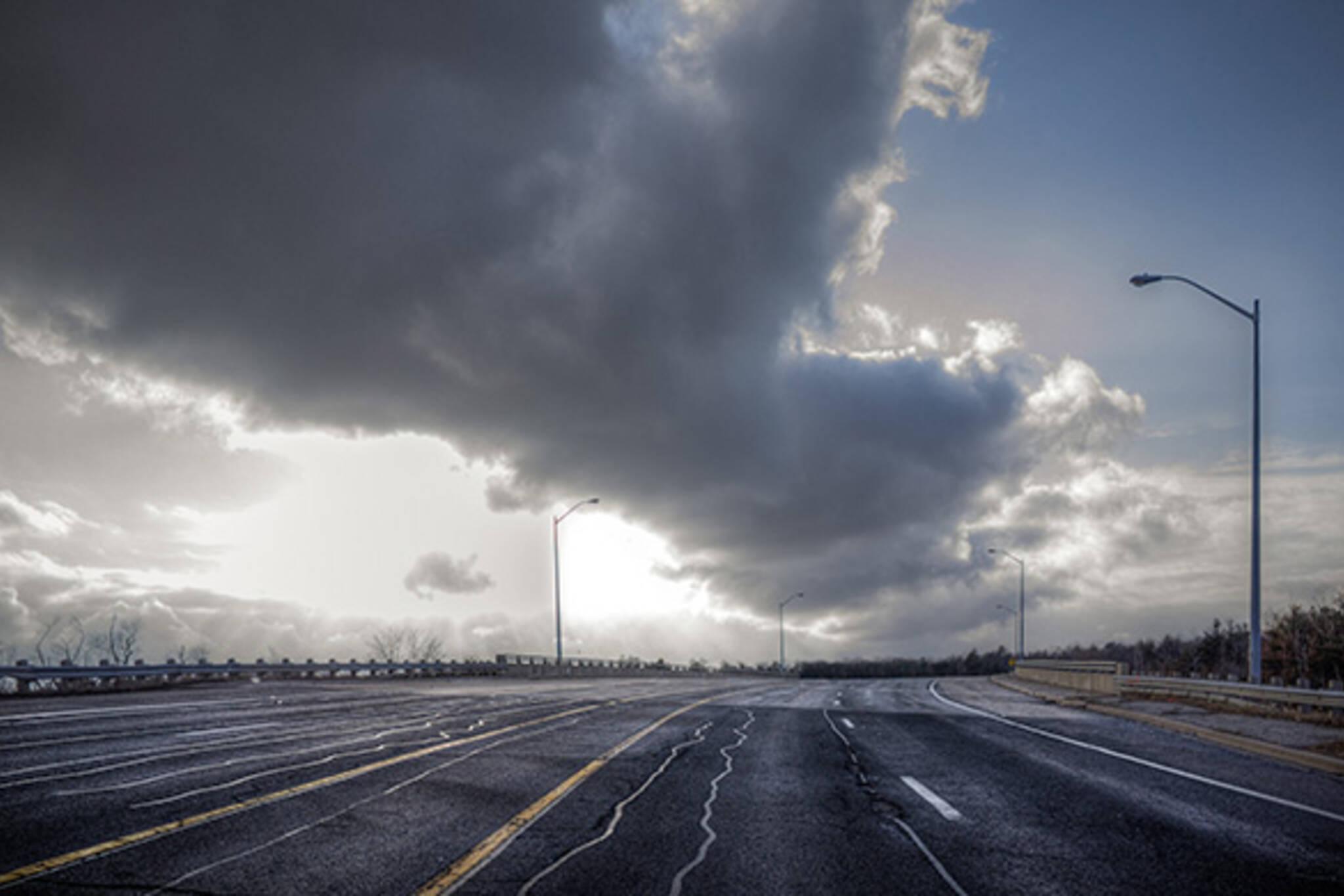 Empty highway toronto
