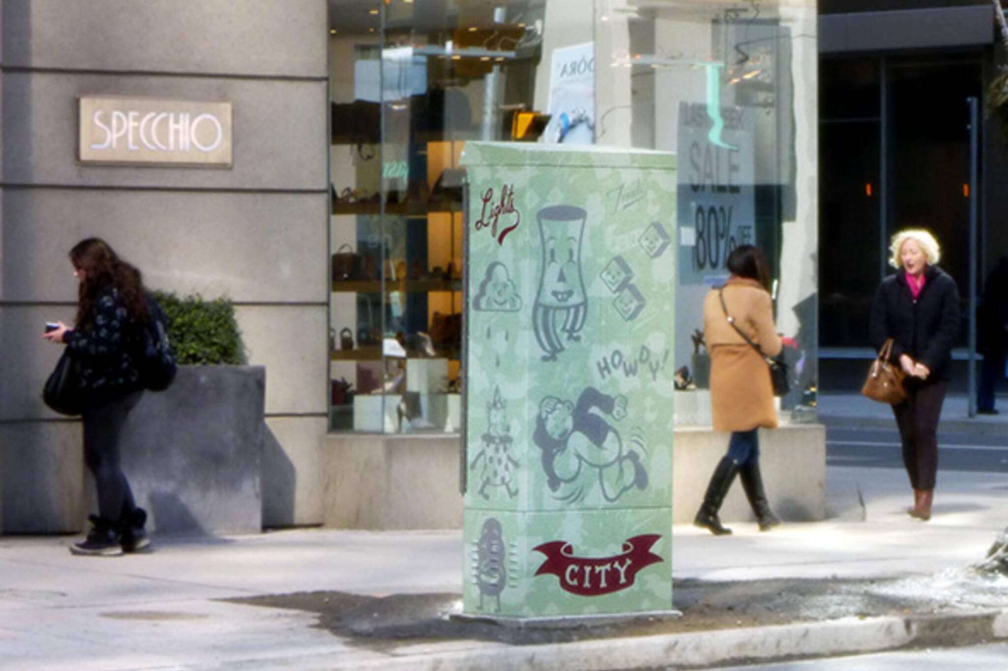 Toronto graffiti wrap traffic box