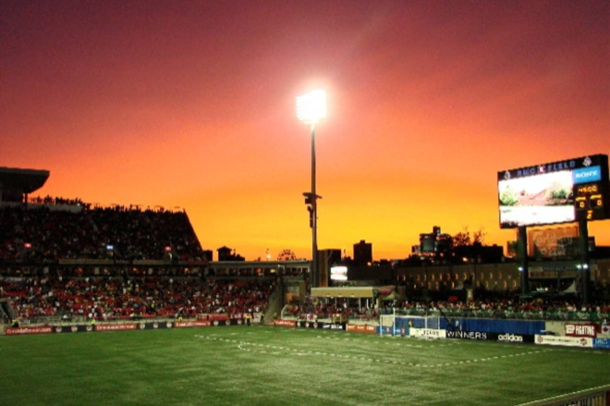 Spectacular sunset over BMO Field