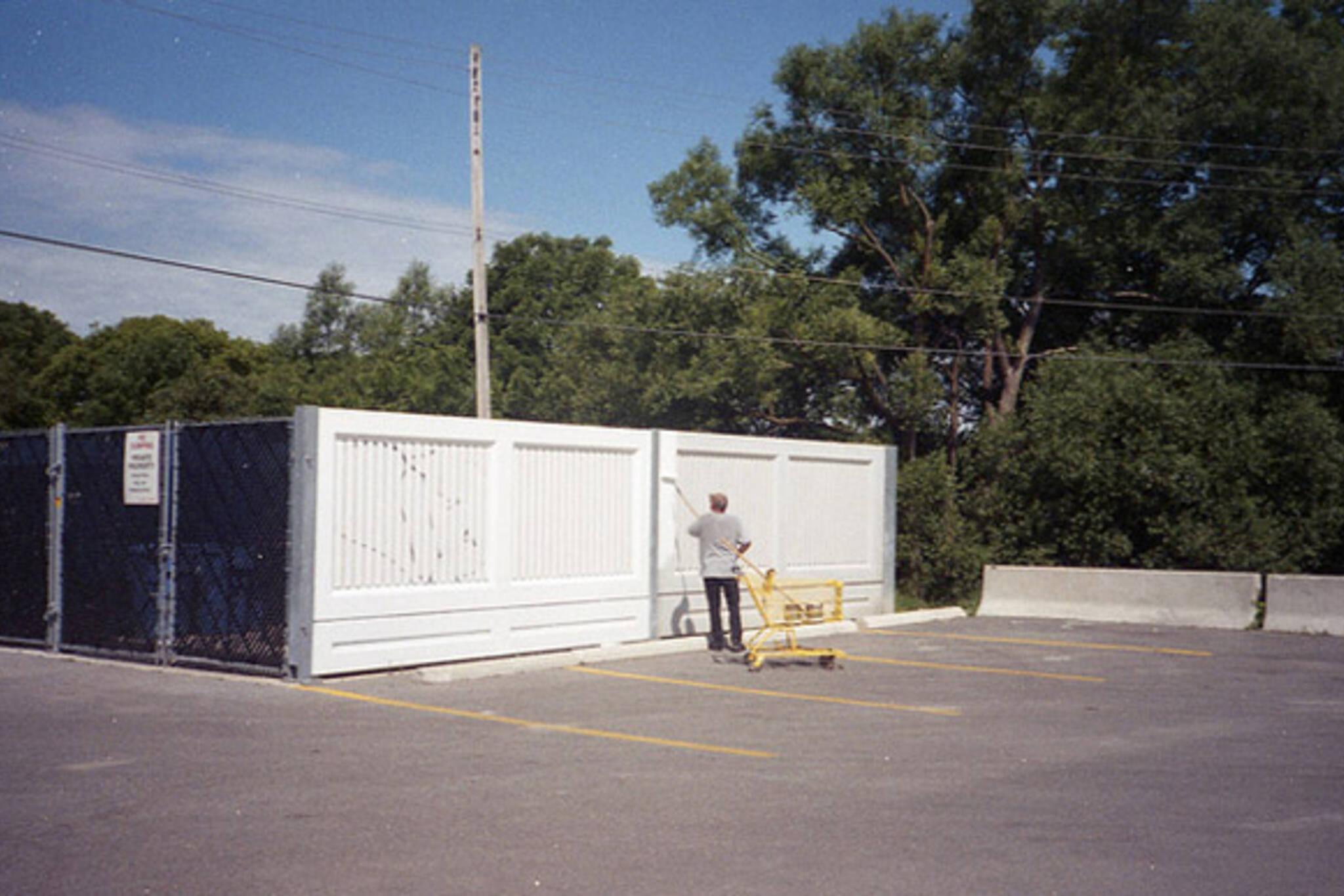 painting, car lot, parking