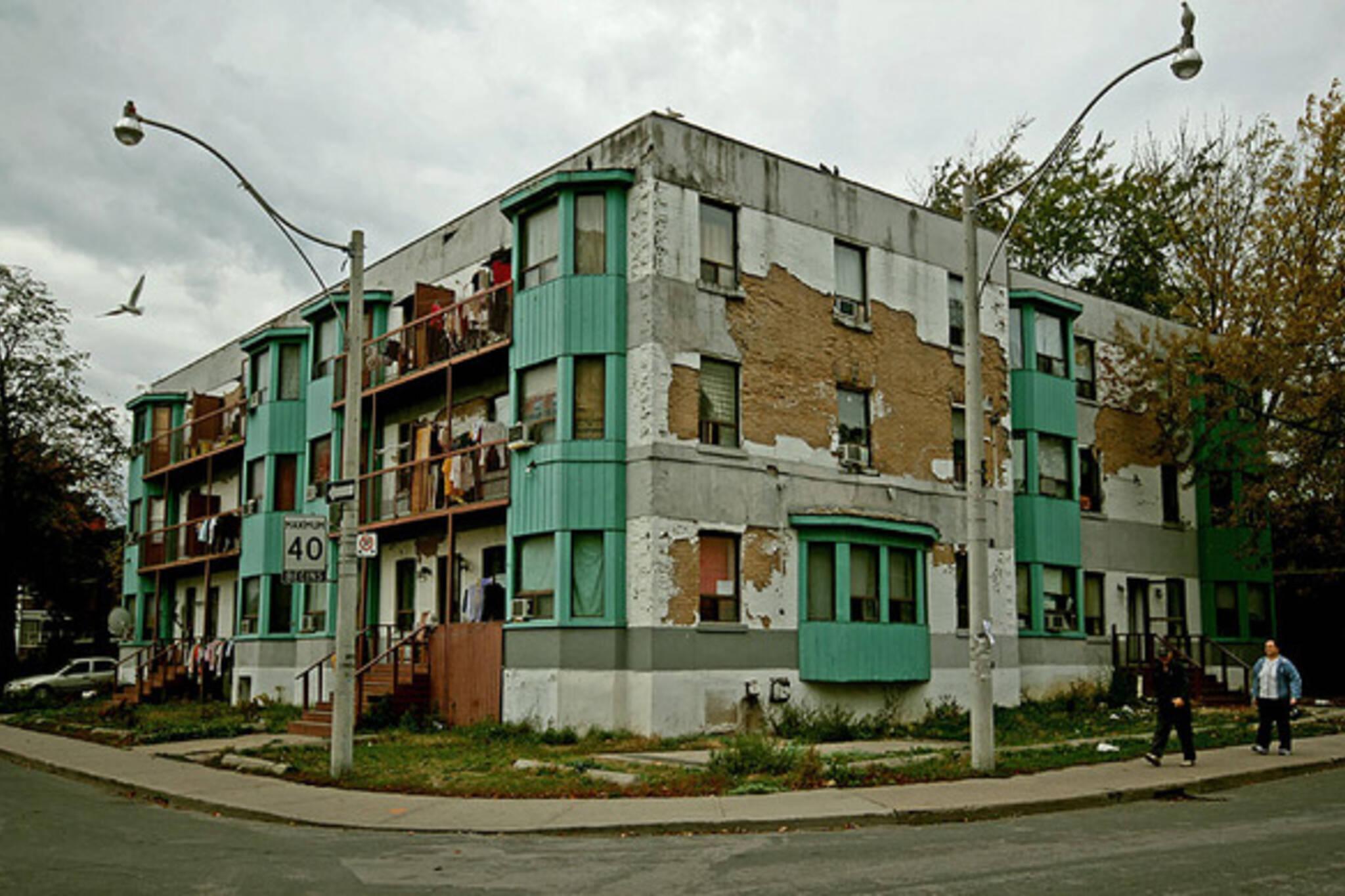 crappy apartment building