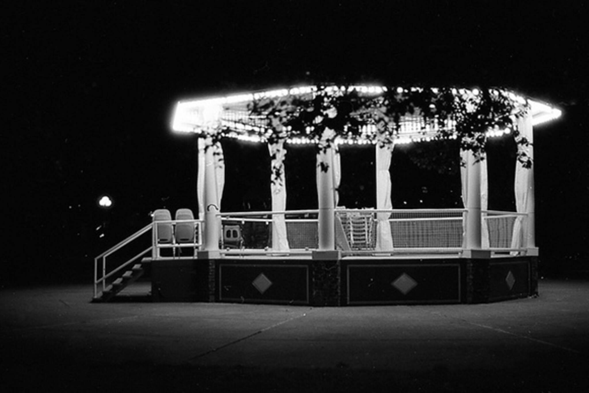 cne, playground, night
