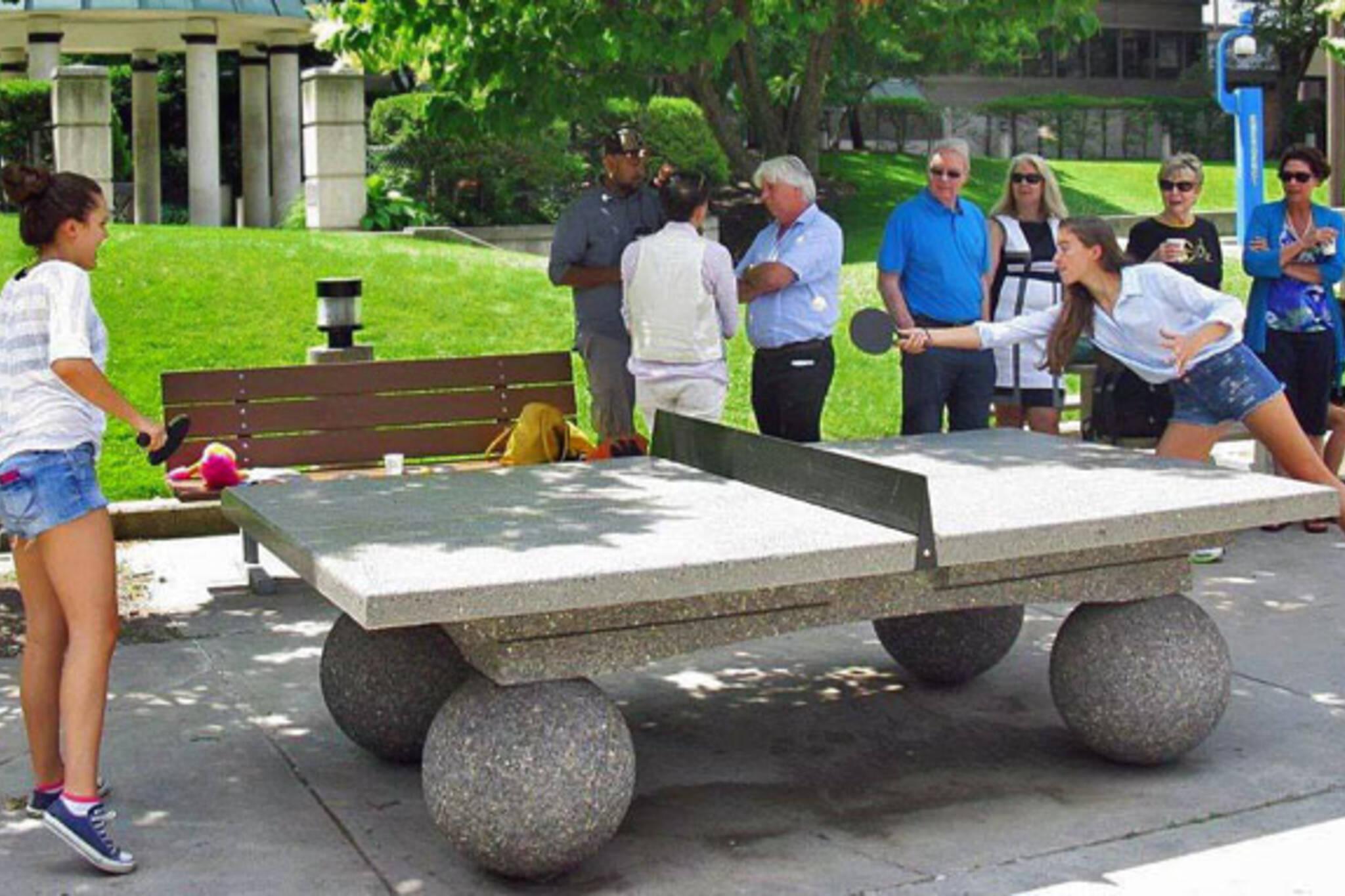 outdoor ping pong toronto