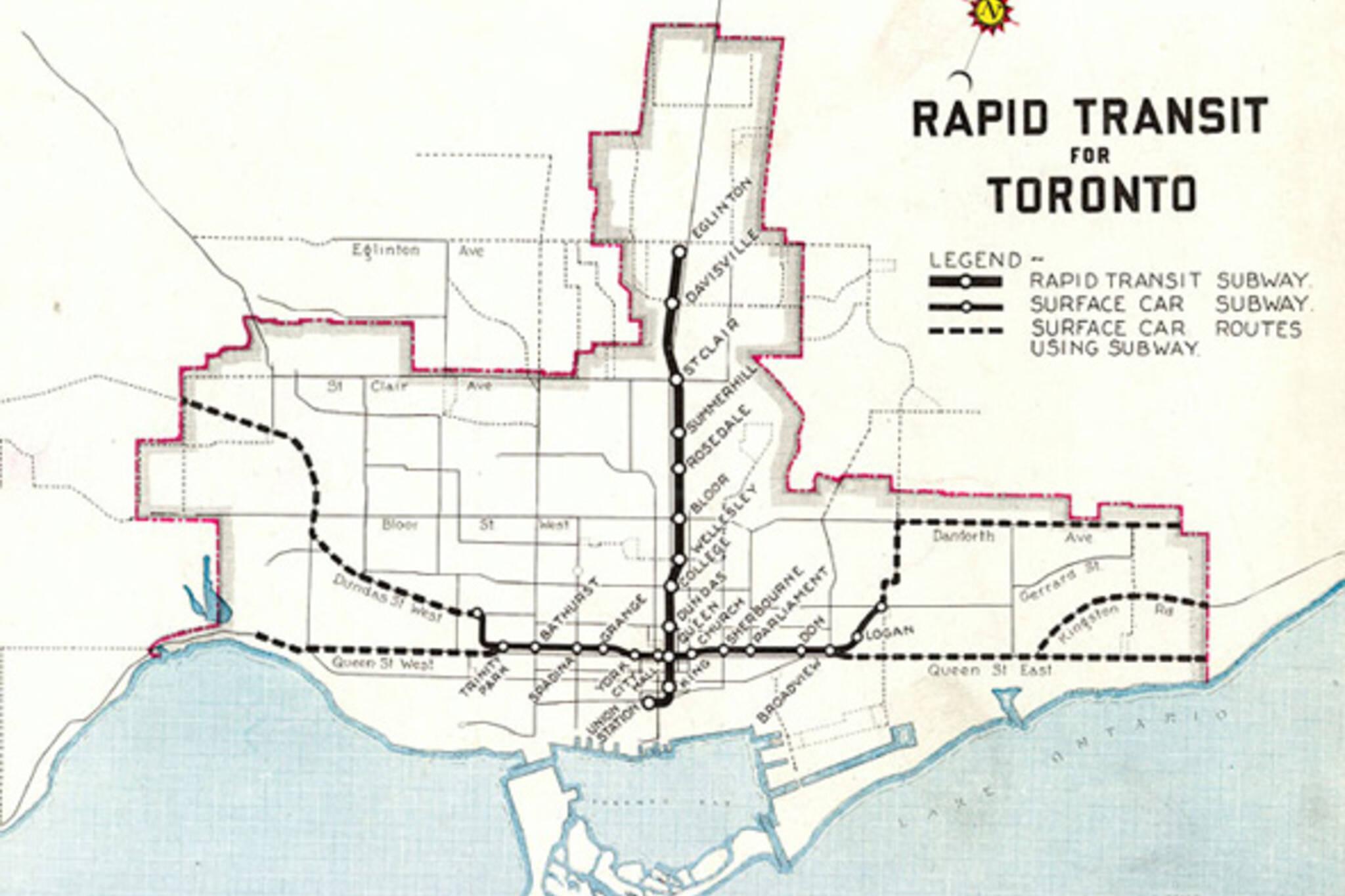Proposed Subways Toronto