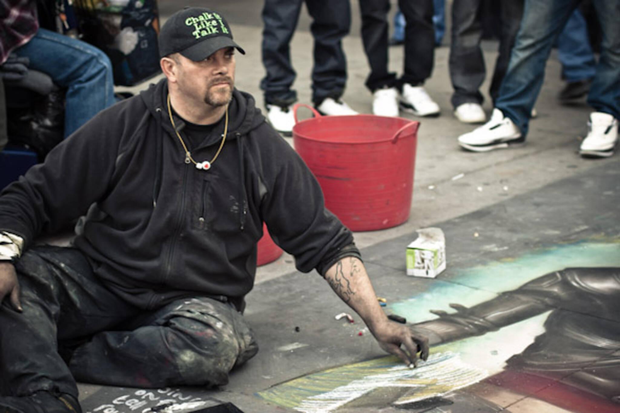 Chalkmaster Dave at Yonge and Dundas