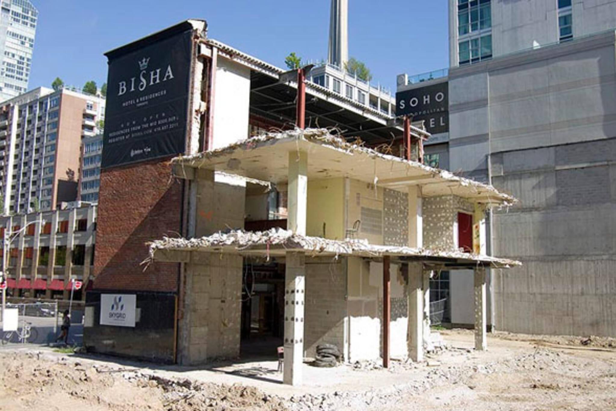 toronto demolition downtown structure building site