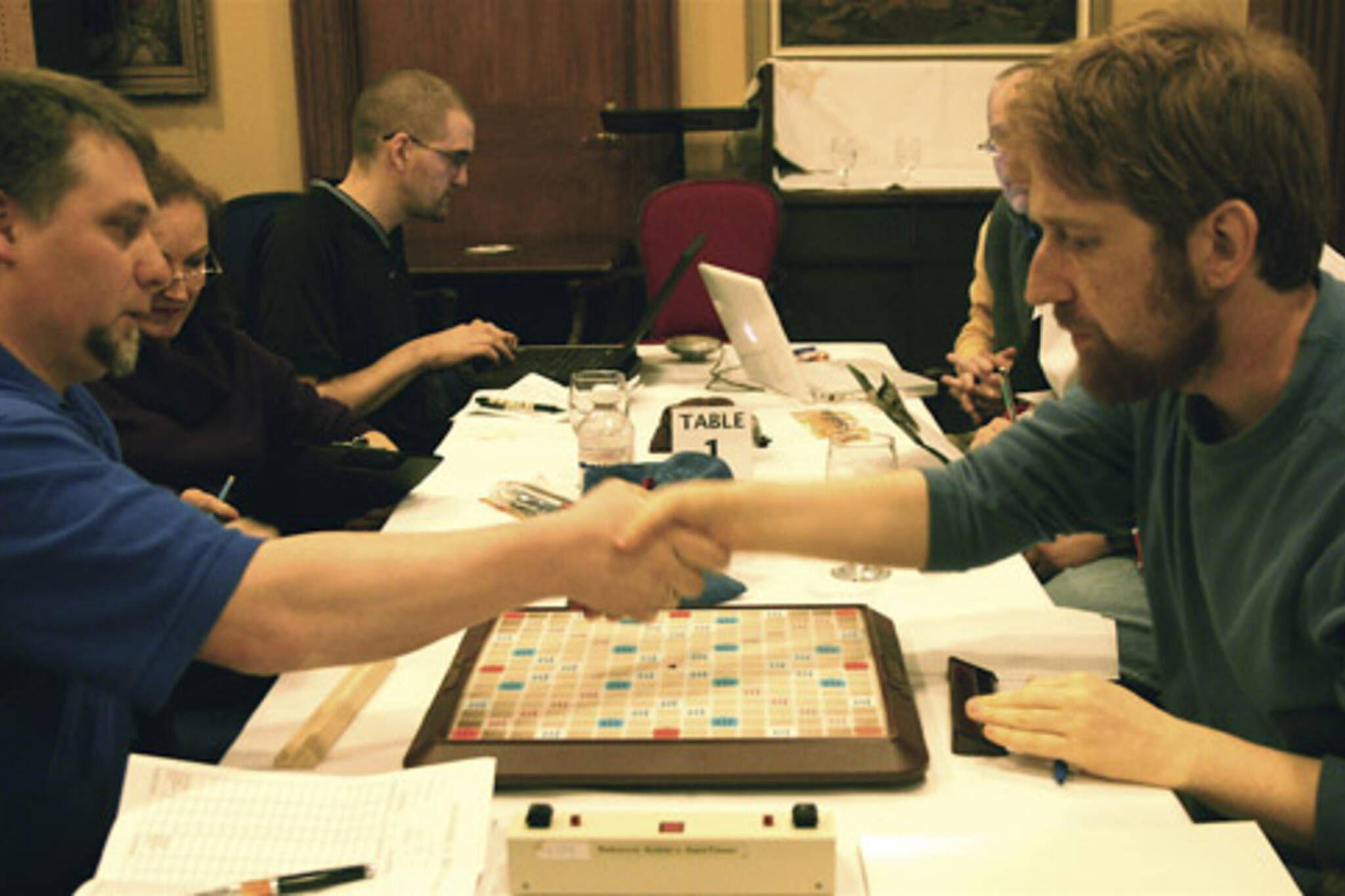Adam Logan at the Canadian National Scrabble Championships in Toronto