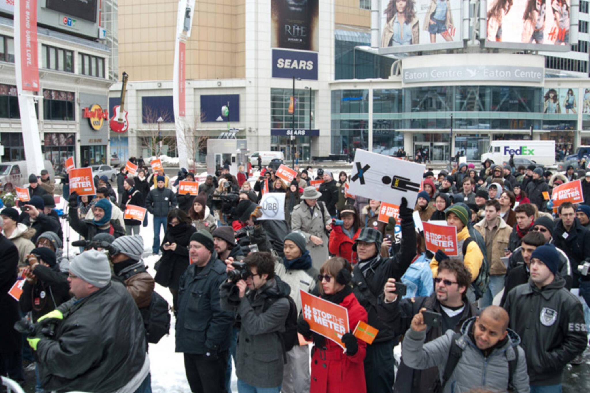 Toronto UBB Protest NDP