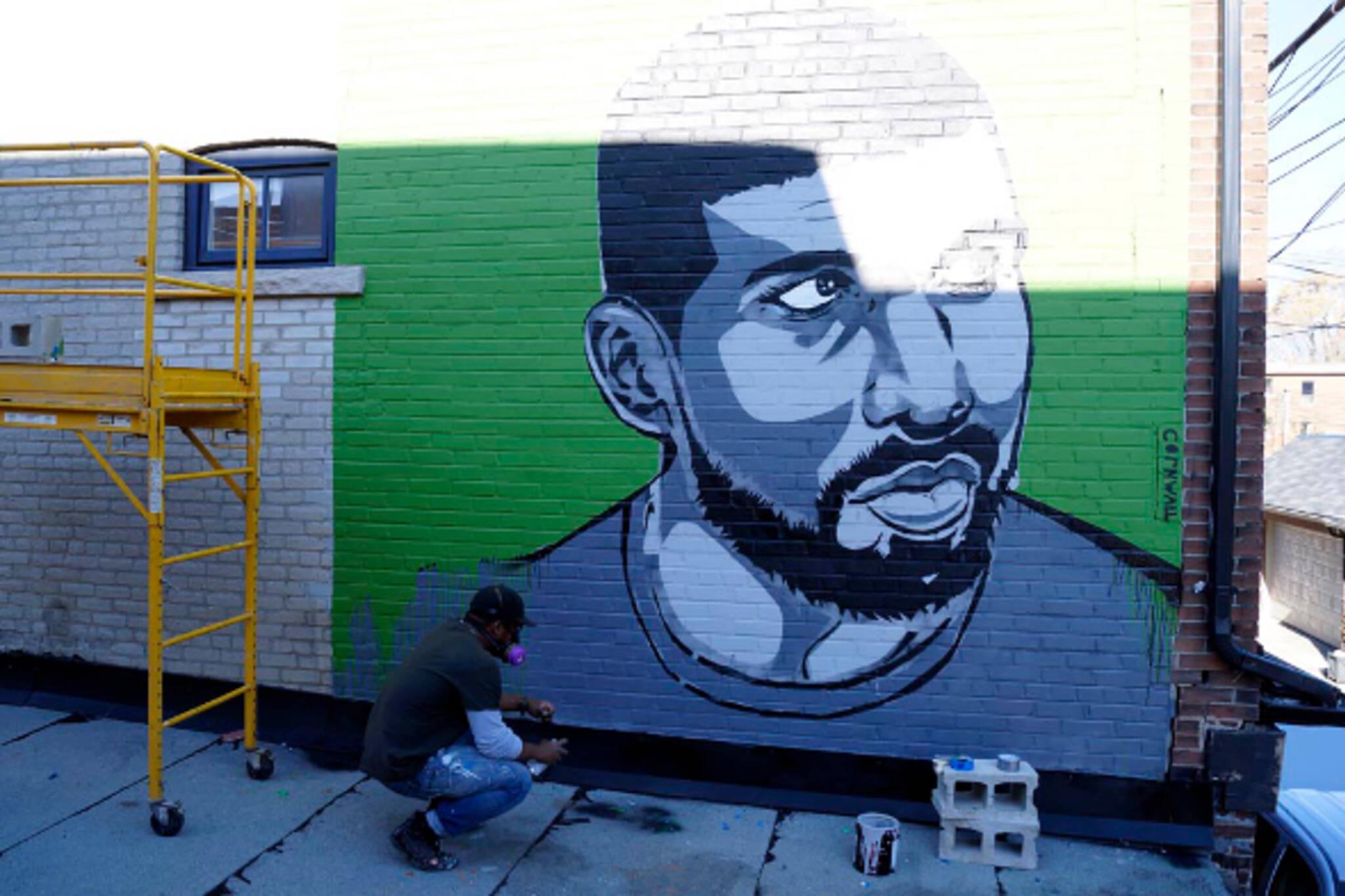 drake graffiti mural toronto