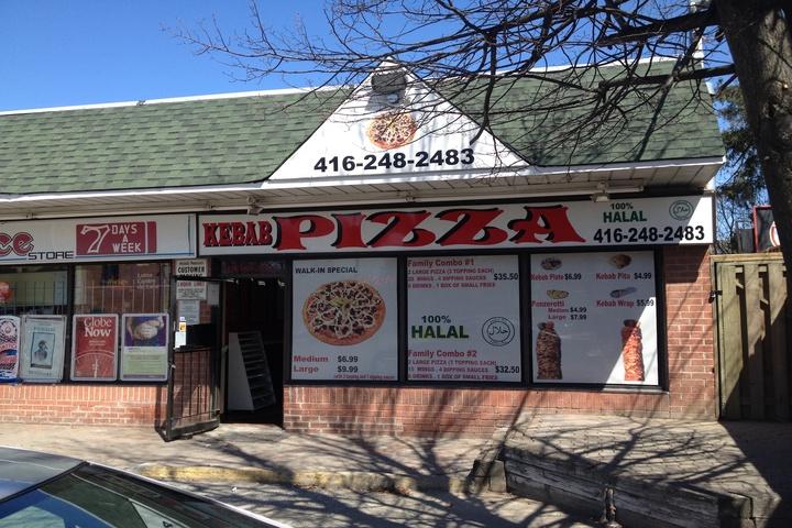 Halal Kebab Pizza