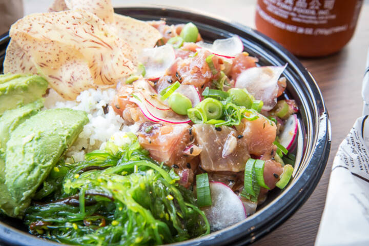 The best poke bowl in toronto for Big fish little fish poke