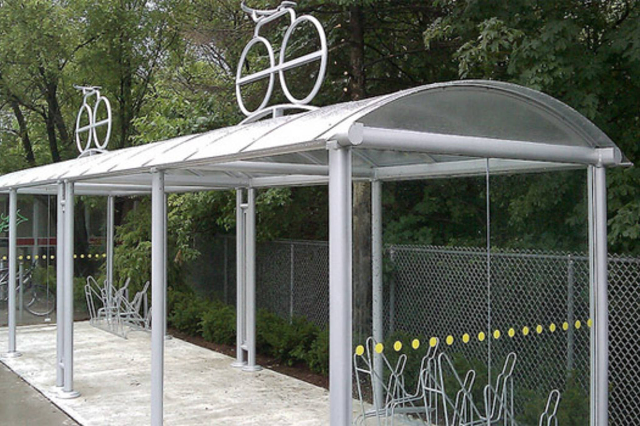 ttc bike shelter st.clair station