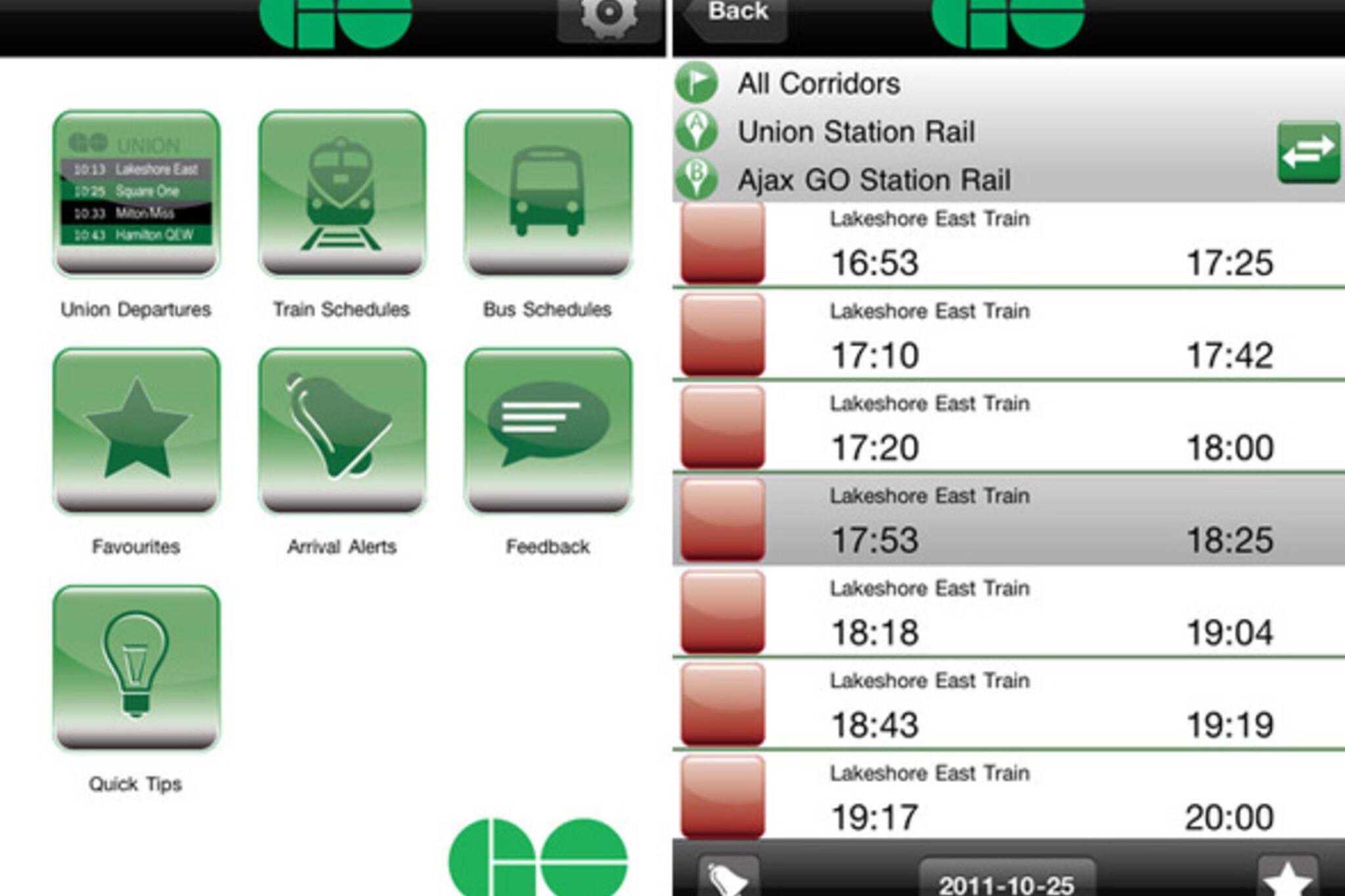 GO Transit Mobile App