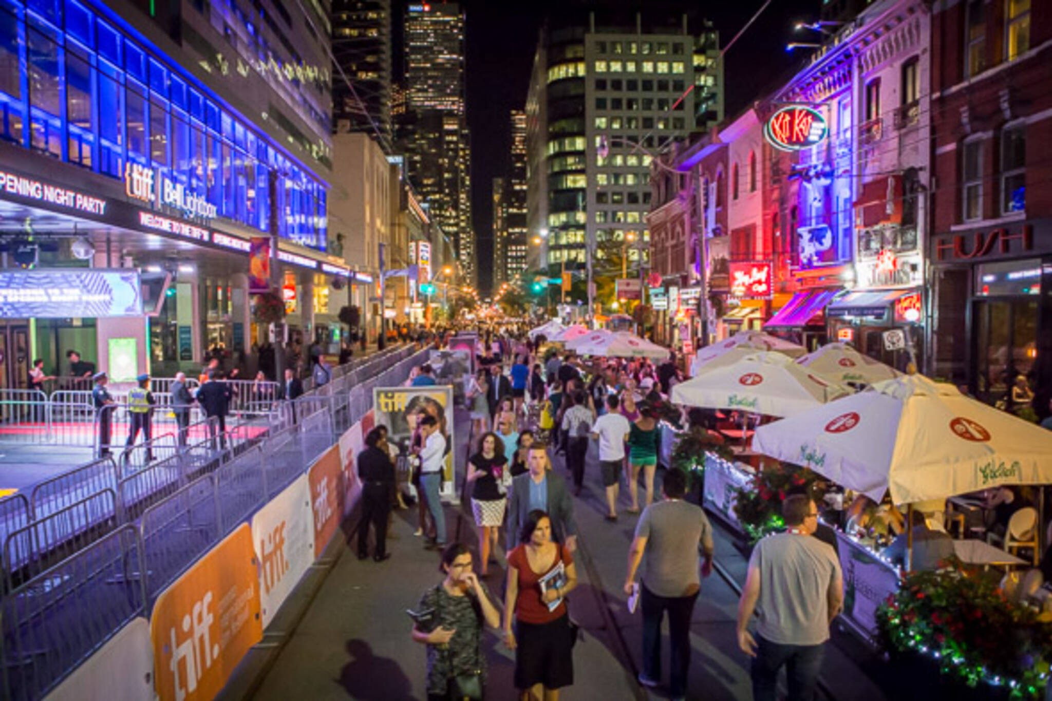 This is what the huge TIFF festival on King St. looks like