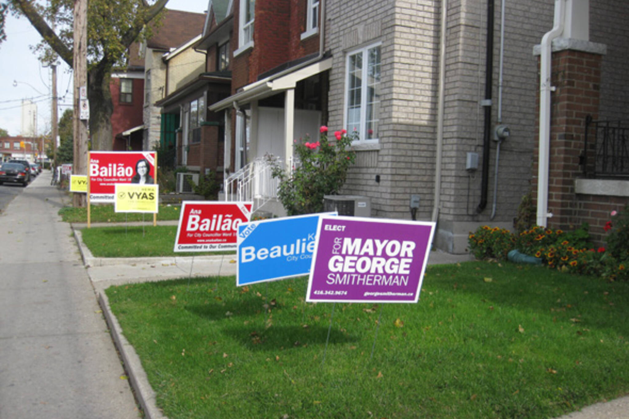 Toronto Election Signs
