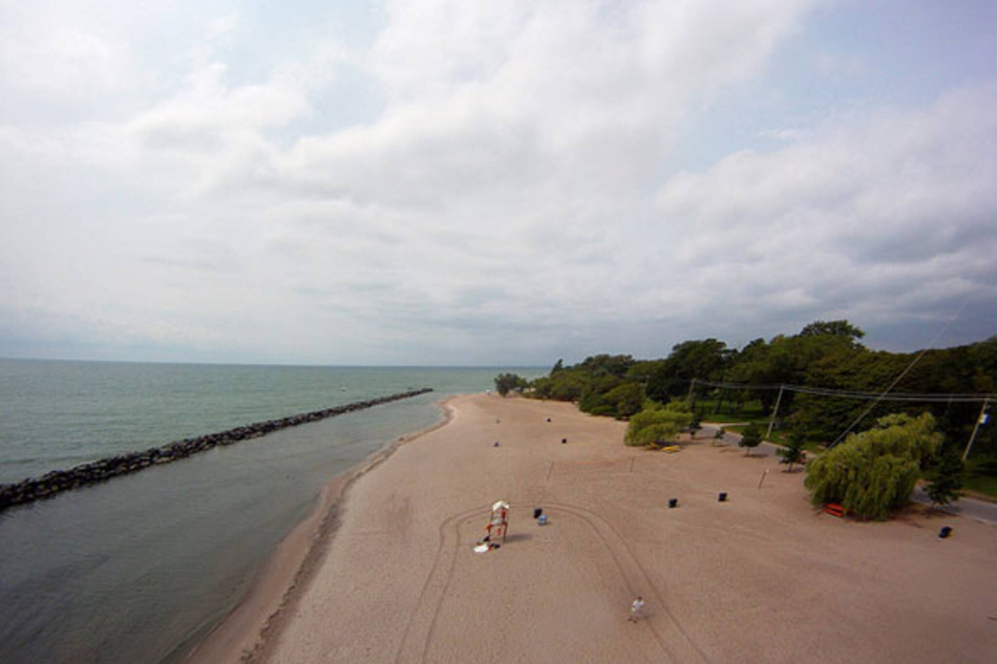 toronto islands beach aerial view
