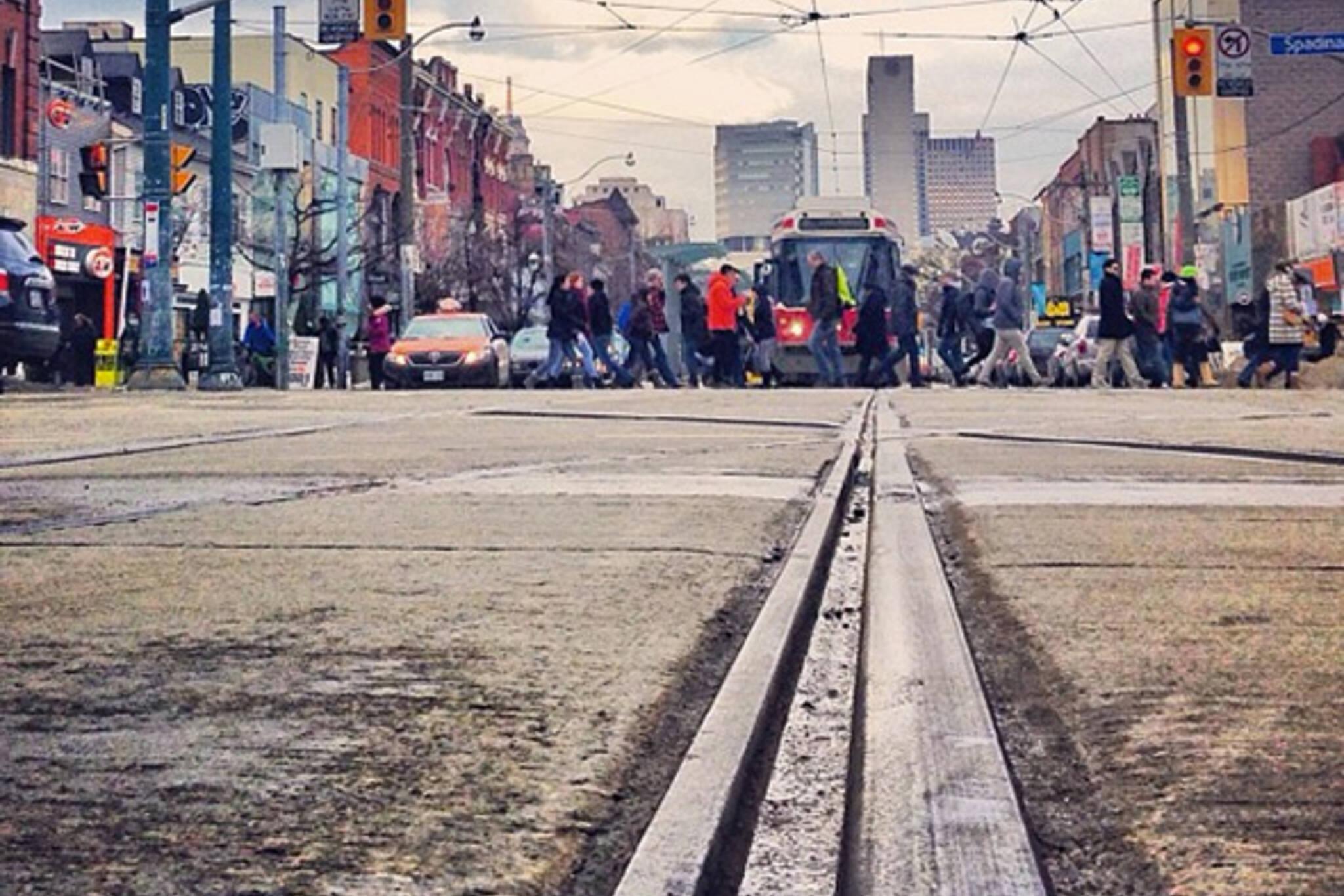 Toronto streetcar tracks