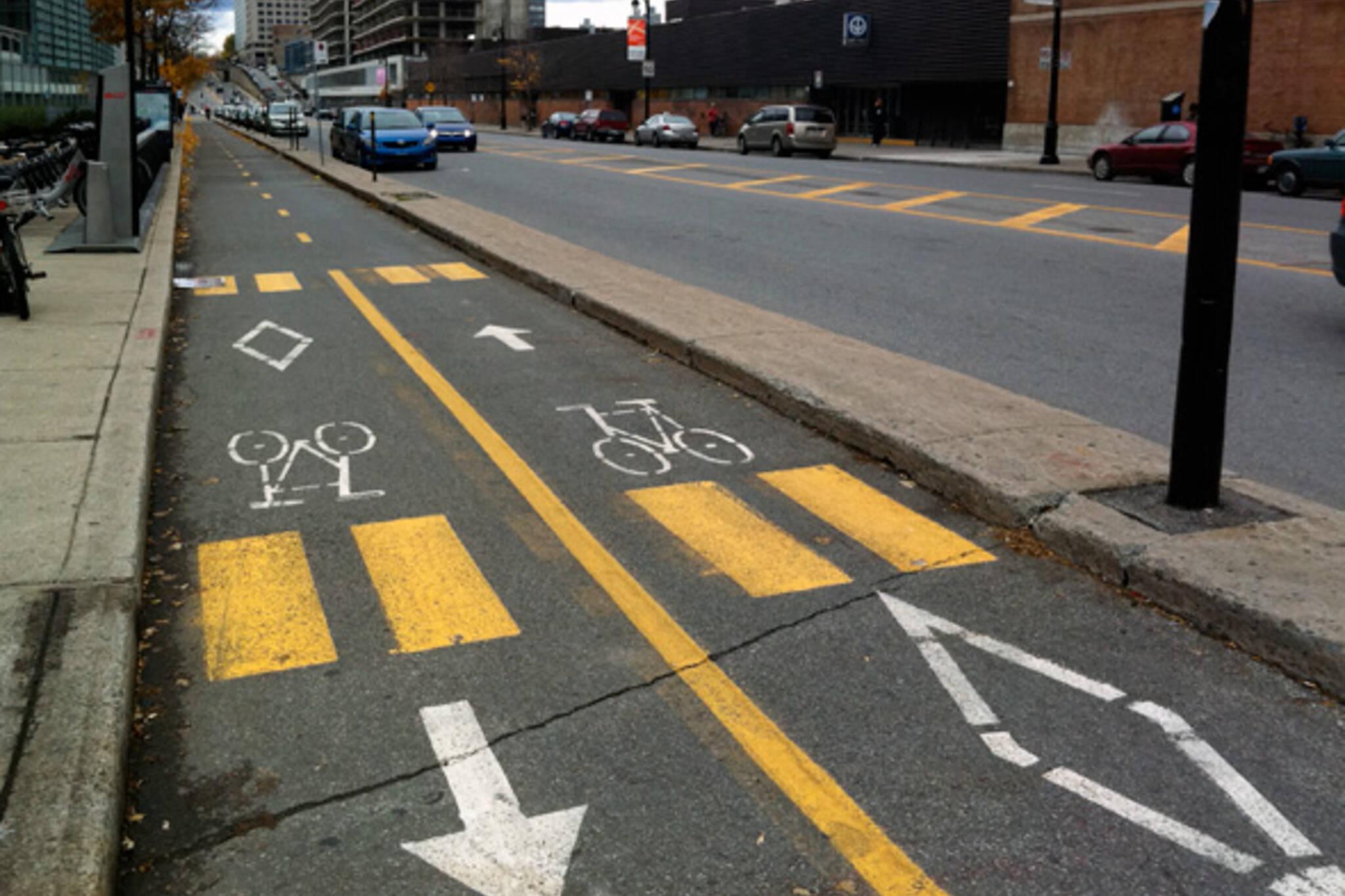 separated bike lanes Toronto