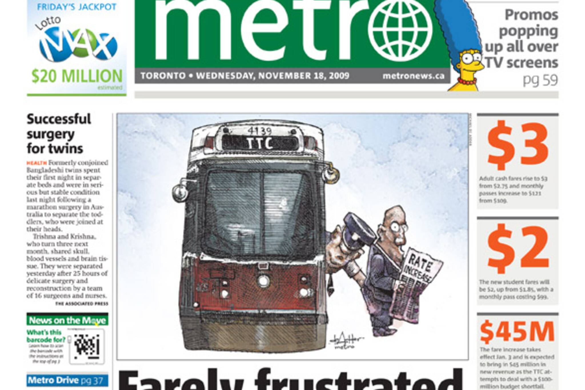 Metro TTC Cartoon