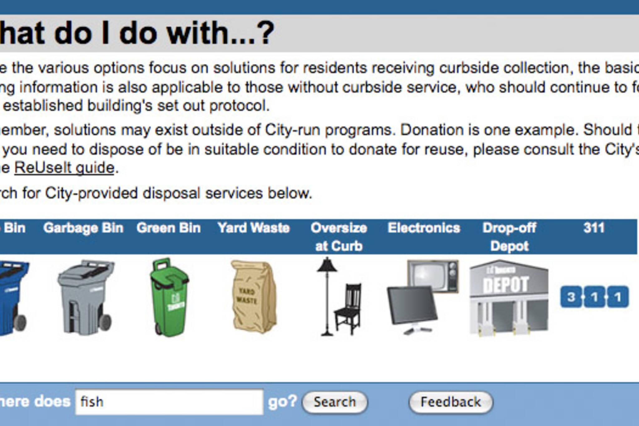 recycling toronto web site