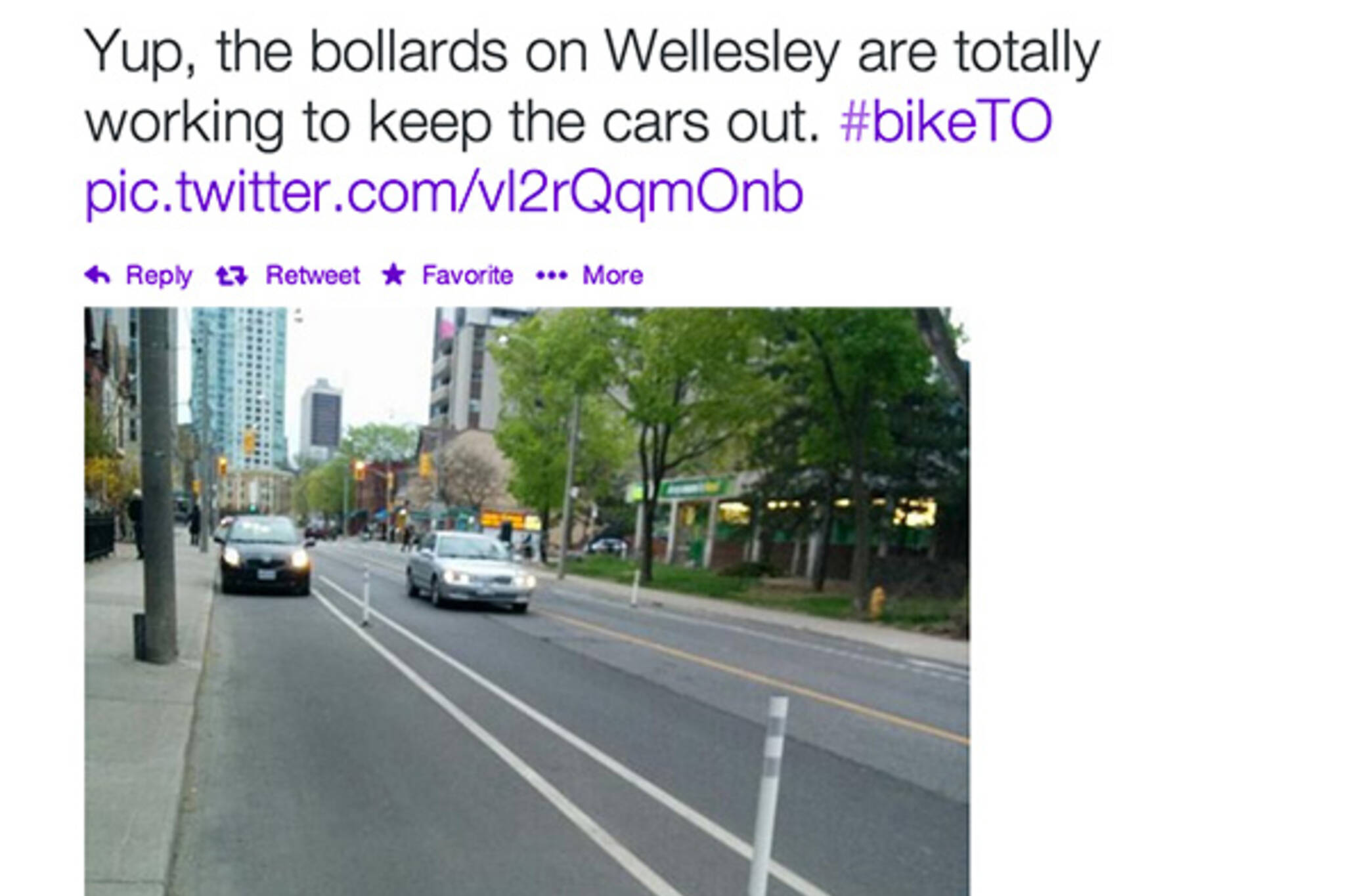 Wellesley Bike lanes