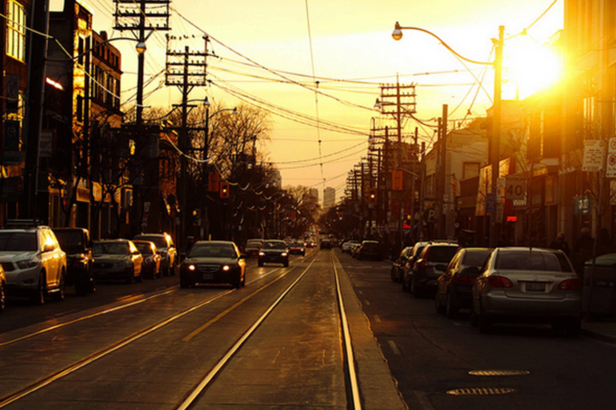 Spring sunset Toronto