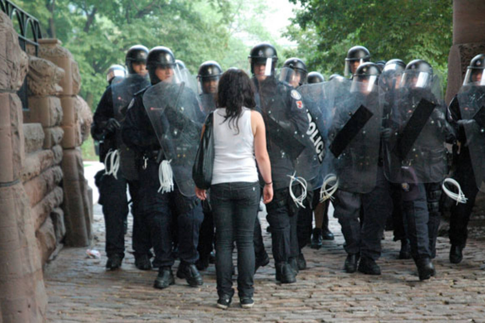 G20 protests at Queens Park