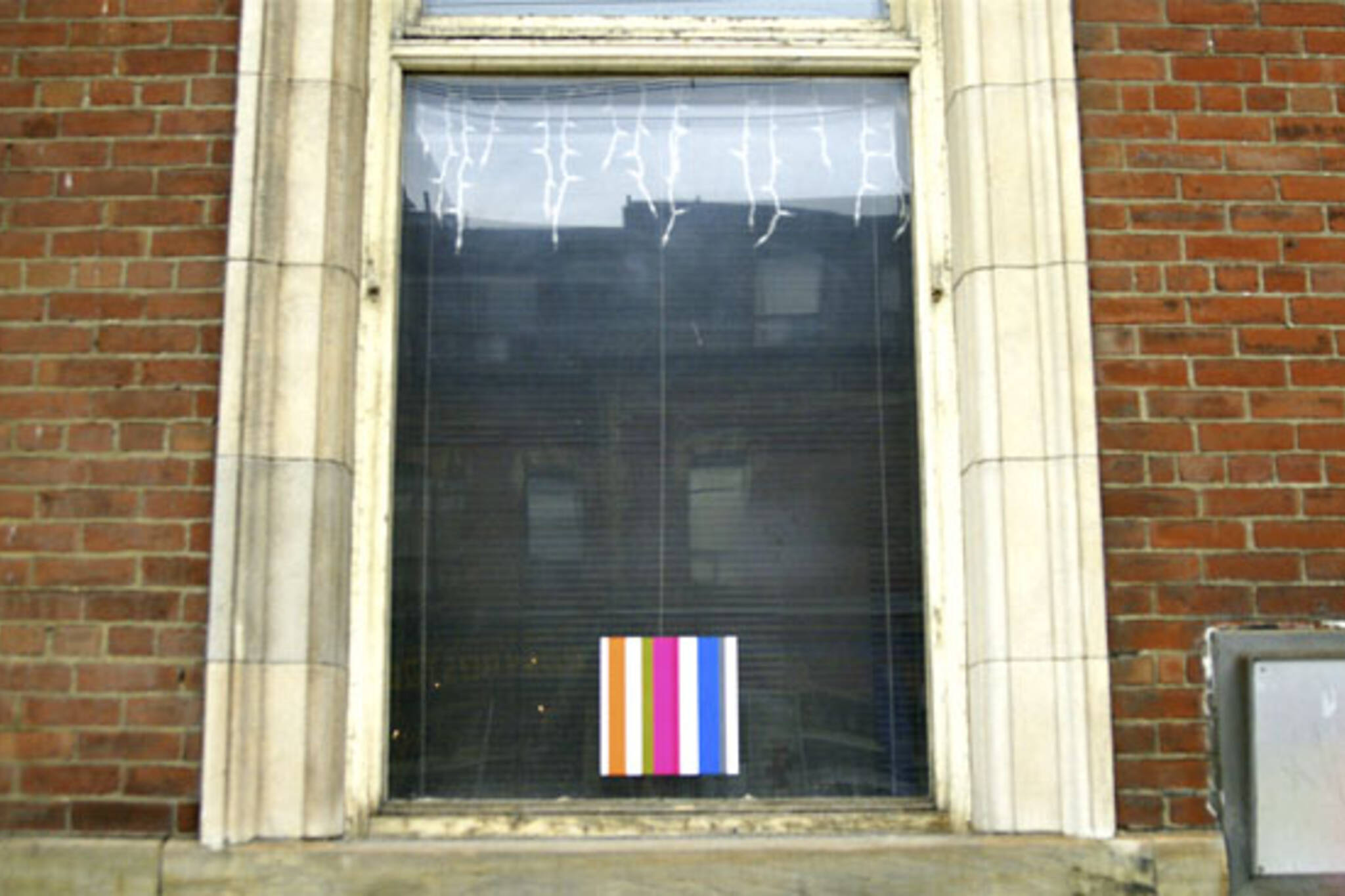 Art Installation in window of old Bank of Canada