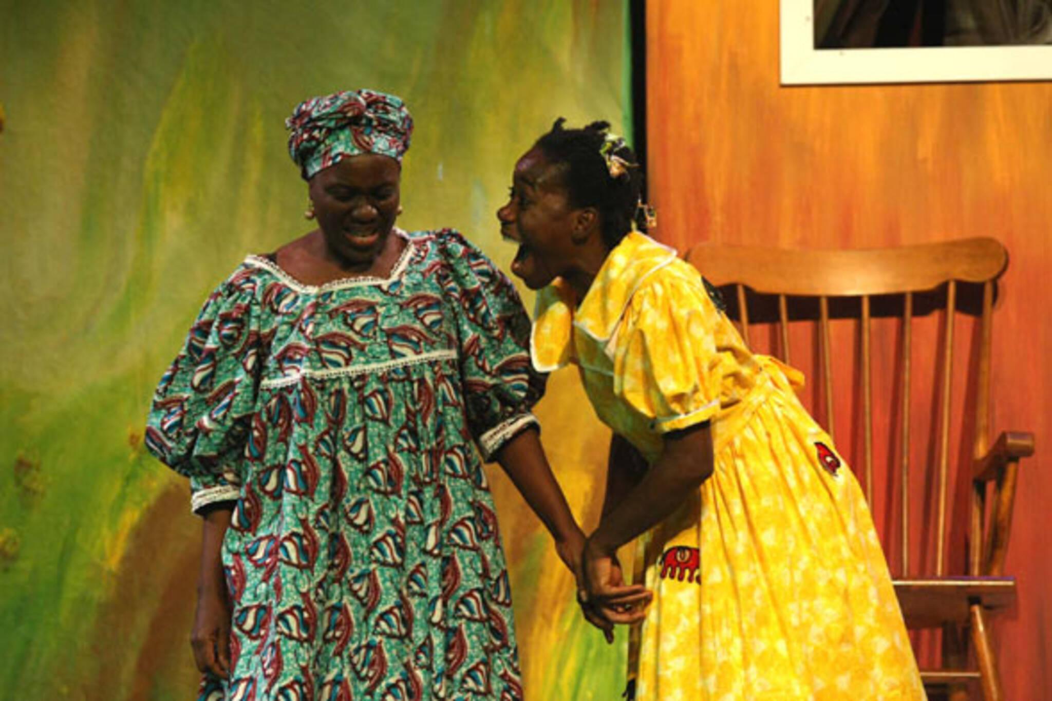 Joke Silva and d'bi young anitafrika in Have You Seen Zandile