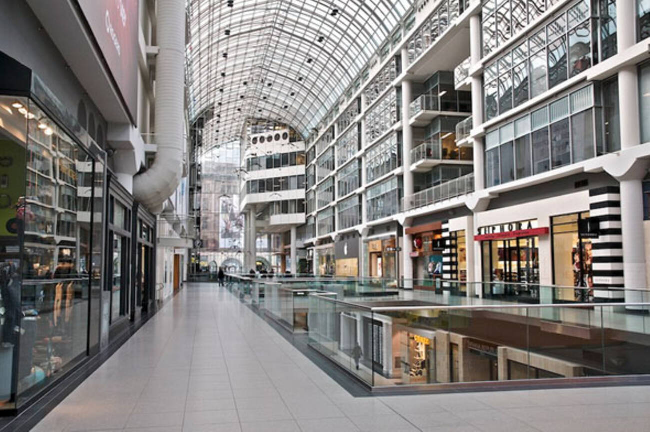 The Eaton Centre is the largest shopping mall in Eastern Canada and third-largest in Canada as a whole. Located in the heart of the city, it is one of the most interesting and exciting shopping experiences you will find anywhere.