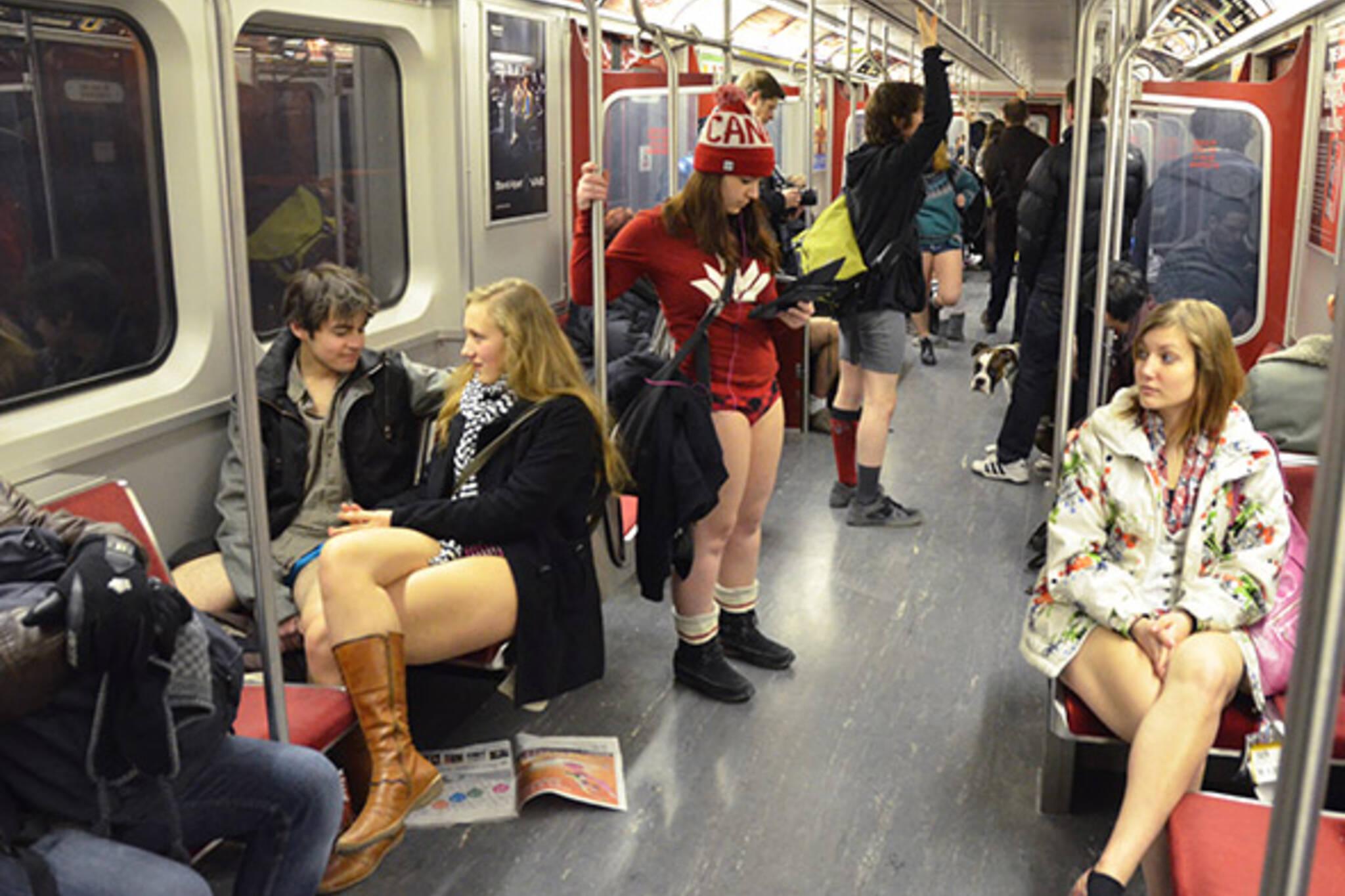 No Pants Subway Toronto