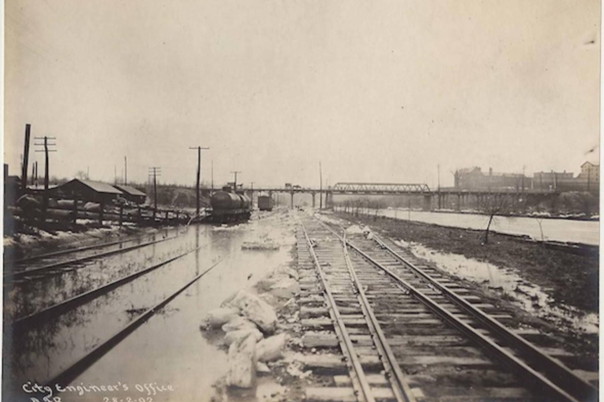 Don Straightening Tracks Flood
