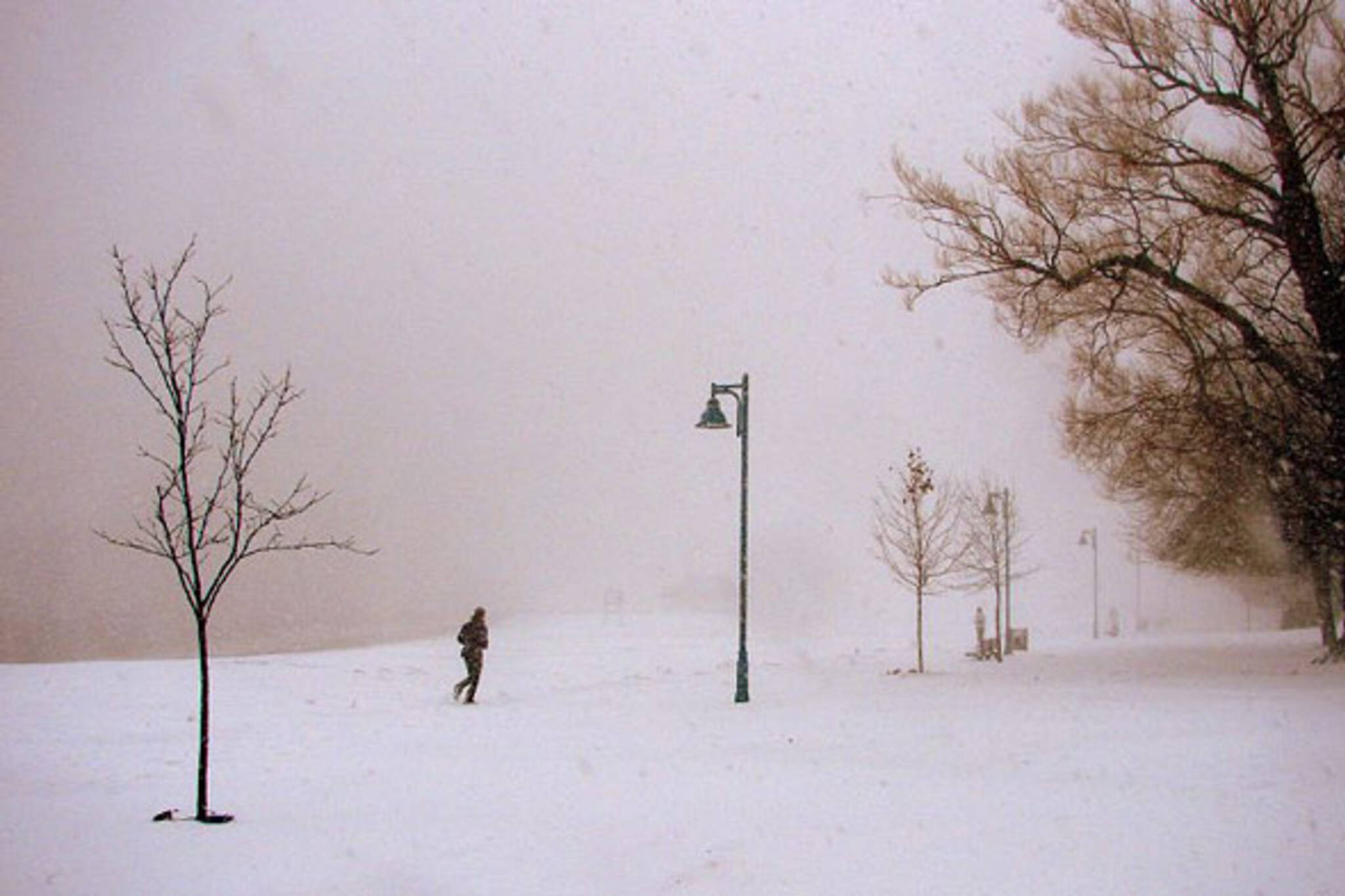 winter jogger