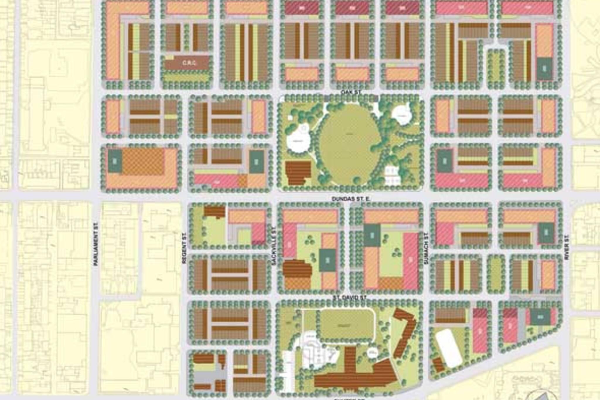 Regent Park Revitalization Map