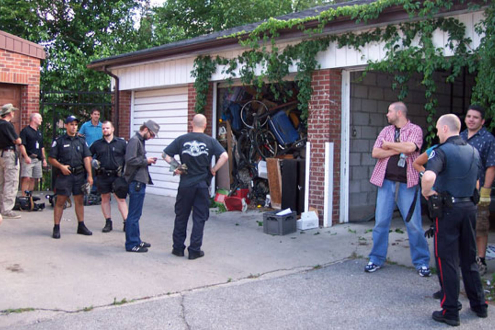 Police Search Garage for Bicycles