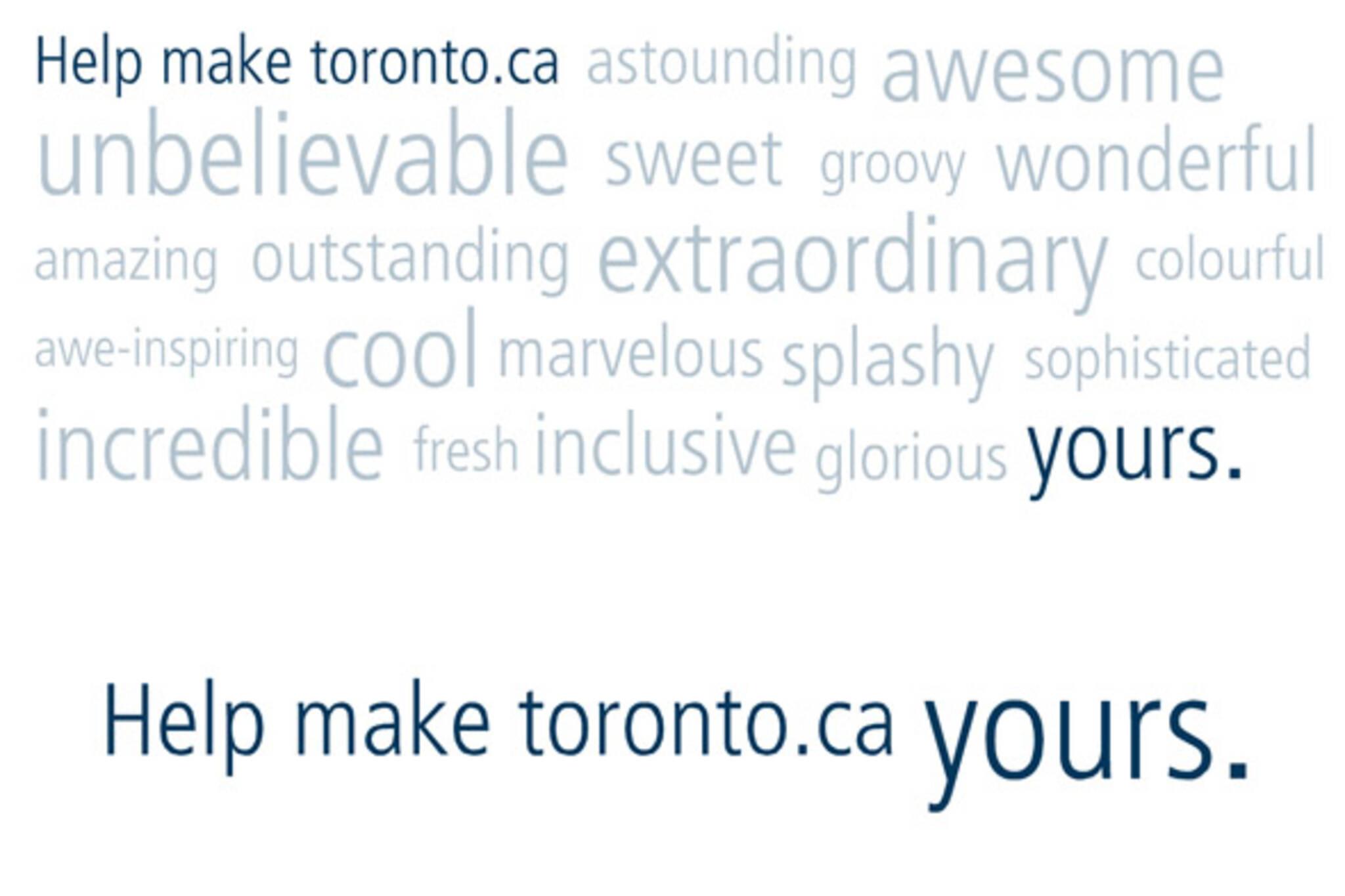 The Toronto.ca rebrand.