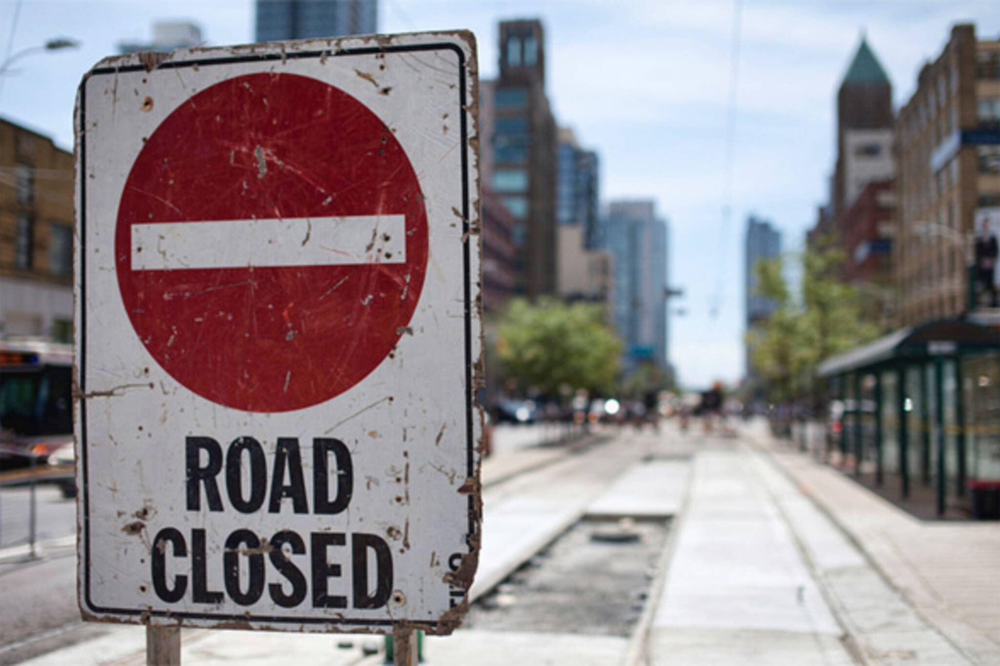 road closures toronto