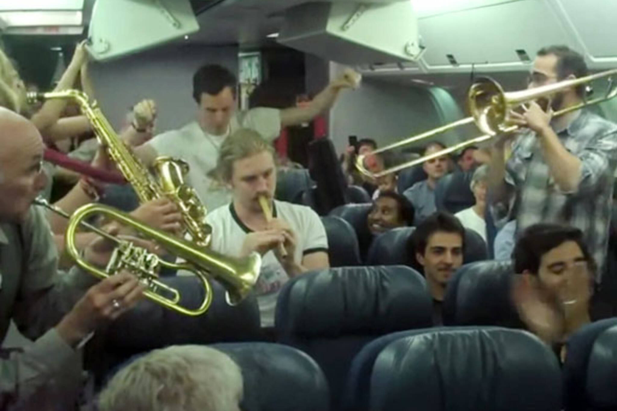 Music on a plane