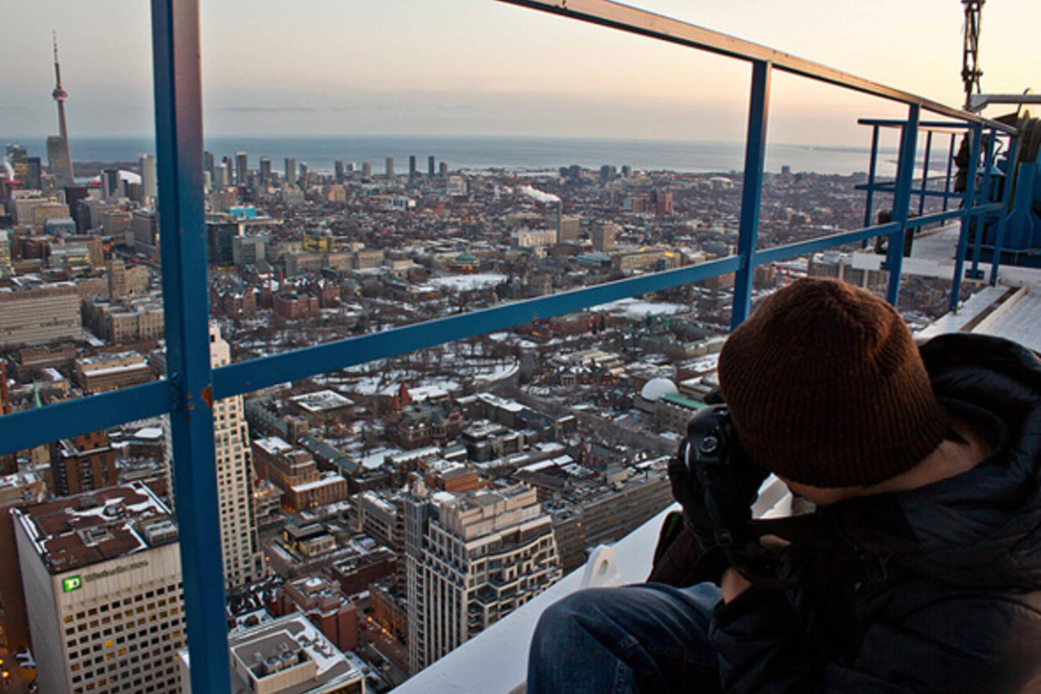 Toronto crane view
